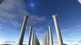 Columnas animadas 4K Lazo-capaz del griego clásico stock de ilustración