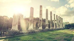Columnas antiguas cerca del coliseo Fotografía de archivo libre de regalías