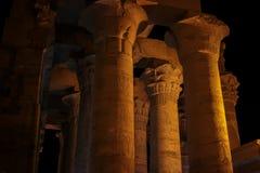 Columnas antiguas de Egipto Imagen de archivo