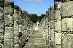 Columnas antiguas de la ruina Foto de archivo libre de regalías