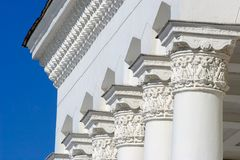 Columnas arquitectónicas clásicas Imágenes de archivo libres de regalías