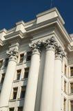 Columnas blancas imagenes de archivo
