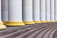 Columnas blancas Foto de archivo libre de regalías