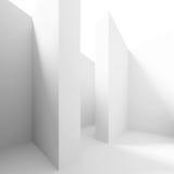 Columnas blancas Pasillo Imagen de archivo