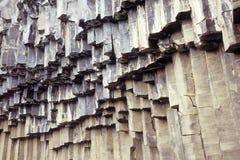 Columnas colgantes del basalto Imagen de archivo