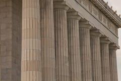 Columnas dóricas robustas de Lincoln Memorial Fotografía de archivo libre de regalías