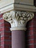 Columnas de ayuntamiento del detalle Fotos de archivo