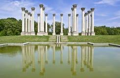 Columnas de capital Imágenes de archivo libres de regalías