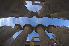 Columnas de Karnak foto de archivo
