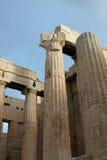 Columnas de la acrópolis Imágenes de archivo libres de regalías