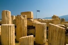 Columnas de la acrópolis Imagenes de archivo