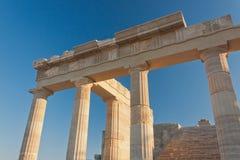 Columnas de la acrópolis del olor del ¿de аncient Ð Fotografía de archivo
