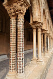Columnas de la iglesia de Monreale Imagen de archivo libre de regalías