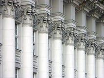 Columnas de la justicia Fotos de archivo libres de regalías