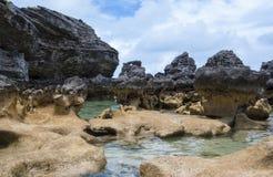 Columnas de las rocas de la piedra caliza Foto de archivo libre de regalías