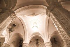 Columnas de mármol del detalle interior Foto de archivo