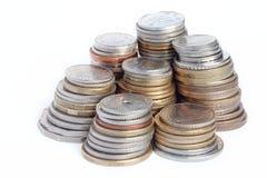 Columnas de monedas Fotos de archivo libres de regalías