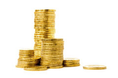 Columnas de monedas Foto de archivo