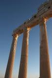 Columnas de un templo antiguo Apolo en cara Foto de archivo libre de regalías