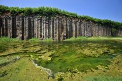 Columnas del basalto Imágenes de archivo libres de regalías