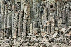 Columnas del basalto de los acantilados de Sheepeater imágenes de archivo libres de regalías