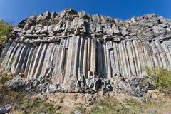 Columnas del basalto de Racos Imagen de archivo