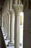 Columnas del claustro en Iona Abbey Fotografía de archivo