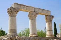 Columnas del Corinthian Foto de archivo libre de regalías