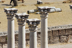 Columnas del Corinthian Imagen de archivo
