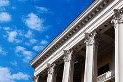 Columnas del edificio ruso del teatro en Moscú Fotos de archivo libres de regalías