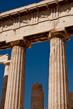 Columnas del griego clásico del Parthenon Fotos de archivo libres de regalías
