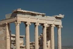Columnas del griego clásico del Parthenon Fotos de archivo