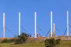 Columnas del hormigón de la construcción Imagenes de archivo
