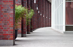 Columnas del ladrillo rojo foto de archivo