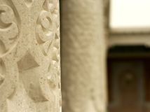 Columnas del templo antiguo imágenes de archivo libres de regalías