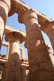 Columnas del templo de Karnak Foto de archivo libre de regalías