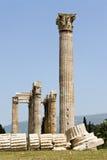 Columnas del templo del Zeus Fotos de archivo libres de regalías