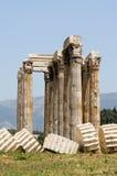 Columnas del templo del Zeus imagen de archivo libre de regalías