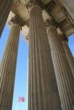 Columnas del Tribunal Supremo Imagen de archivo libre de regalías