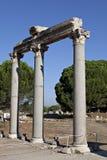 Columnas en el ágora de Tetragonos Foto de archivo libre de regalías