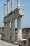 Columnas en el foro en Pompeii, Italia Fotografía de archivo libre de regalías
