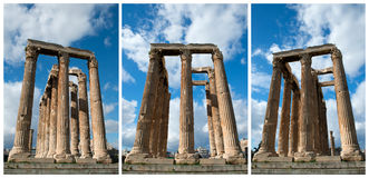 Columnas en el olympieion Atenas Foto de archivo libre de regalías