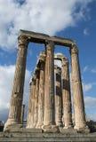 Columnas en el olympieion Grecia Atenas 1 Foto de archivo libre de regalías
