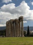 Columnas en el olympieion Grecia, Atenas 1 Imagen de archivo