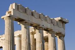 Columnas en el Parthenon Imagen de archivo libre de regalías