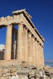 Columnas en el Parthenon en Atenas Grecia Imagen de archivo