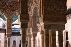 Columnas en el patio de los Leones Foto de archivo