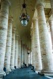 Columnas en el Vaticano Imagen de archivo