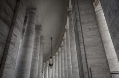 Columnas en el Vaticano Foto de archivo