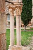 Columnas en la abadía de Fontcaude Fotos de archivo
